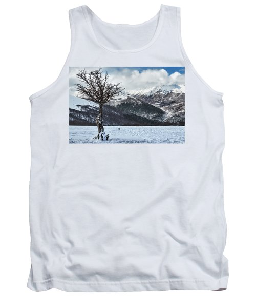The Tree And The Beautiful Snowy Paradise Tank Top