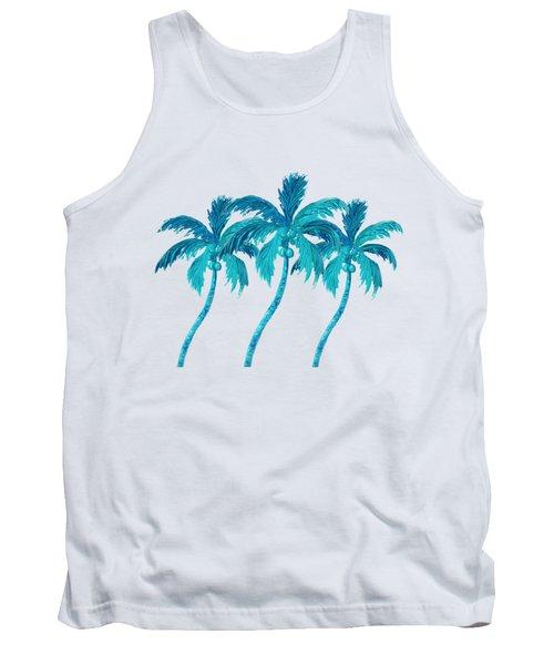 Three Coconut Palm Trees Tank Top