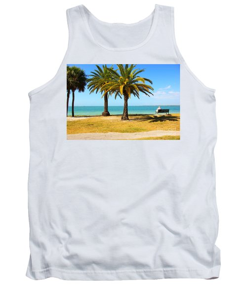 Tranquillity - Palm Trees And Sea Tank Top