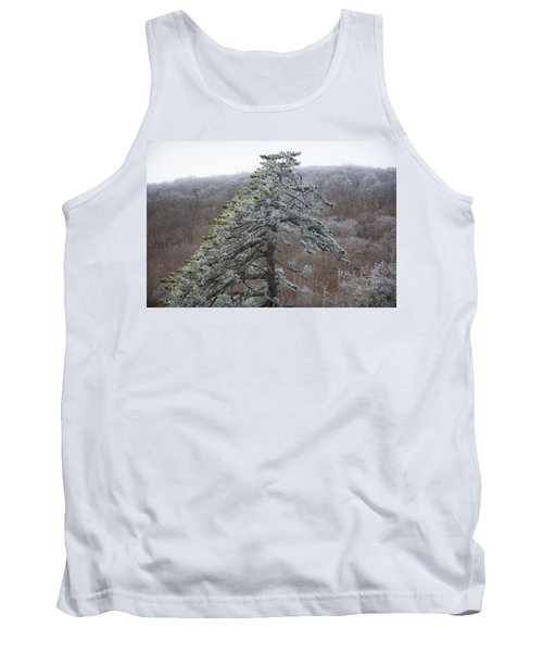 Tree With Hoarfrost Tank Top