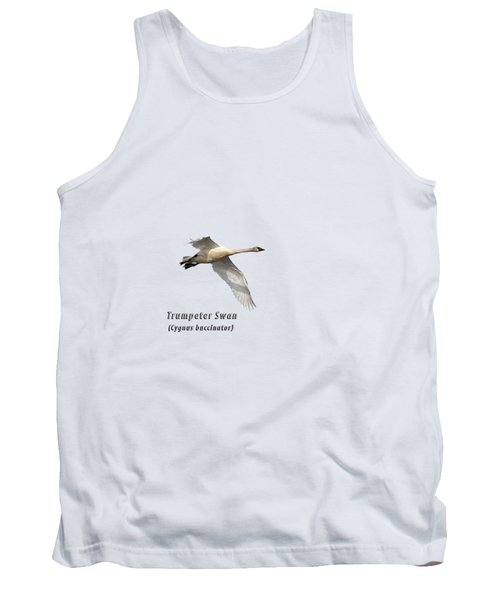 Trumpeter Swan Isolated 2018-2 Tank Top
