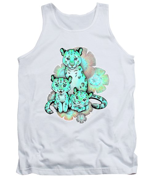 Turquoise Leopards Tank Top