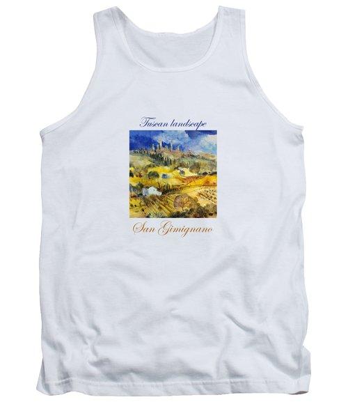 cc06b72fef898d Tuscan Landscape - San Gimignano Tank Top