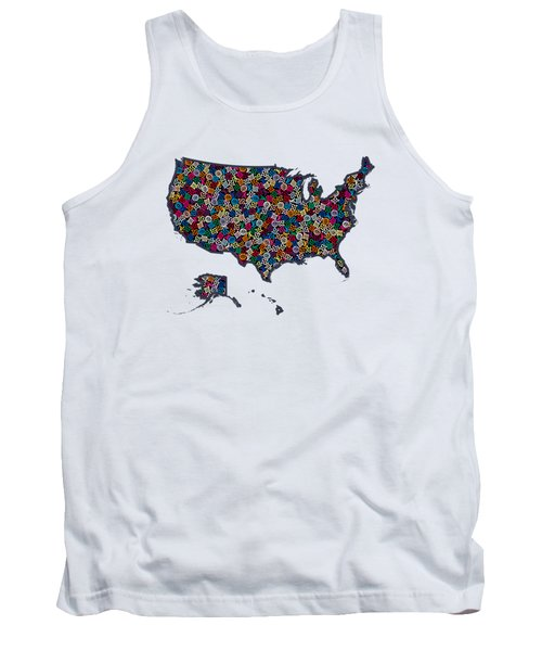 United States Map-1 Tank Top
