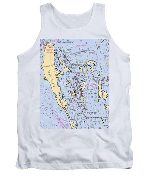 Useppa,cabbage Key,cayo Costa Nautical Chart Tank Top