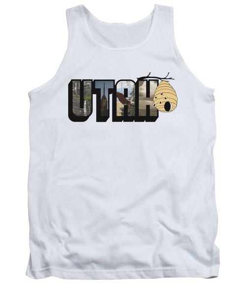 Utah The Beehive State Big Letter Tank Top