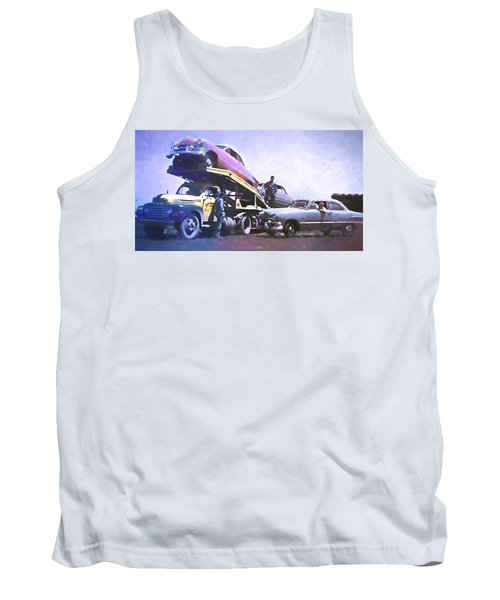 Vintage Ford Car Carrier Tank Top