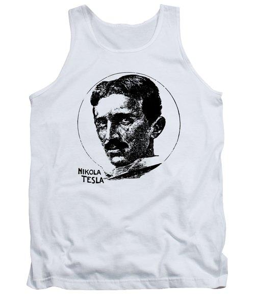 Vintage Newspaper Tesla Portrait - T-shirt Tank Top