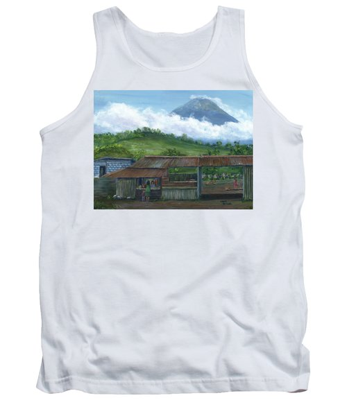 Volcano Agua, Guatemala, With Fruit Stand Tank Top