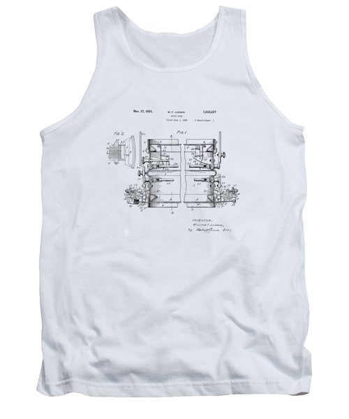 W F Ludwig Snare Drum Patent Tank Top
