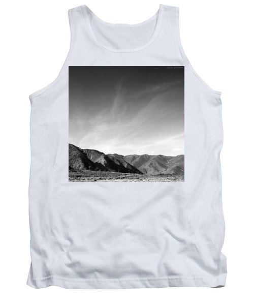 Wainui Hills Squared In Black And White Tank Top