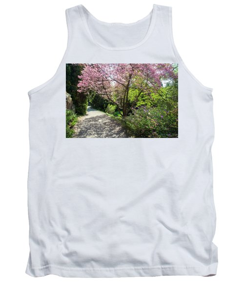 Walk In Spring Eden. Pink Bloom Of Dogwood Tree 1 Tank Top