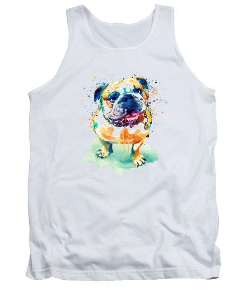 Watercolor Bulldog Tank Top