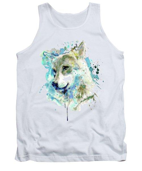 Watercolor Wolf Portrait Tank Top