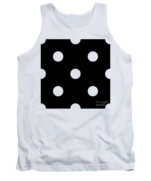 White Dots On A Black Background- Ddh612 Tank Top