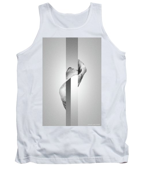 White Endobrume - Surreal Abstract Elephant Bone Collage With Rectangles Tank Top