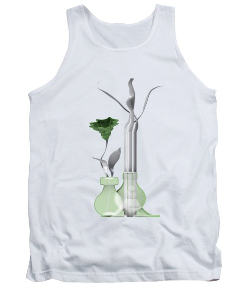 Tank Top featuring the digital art White Soft Stil Life With One Flower. by Alberto RuiZ