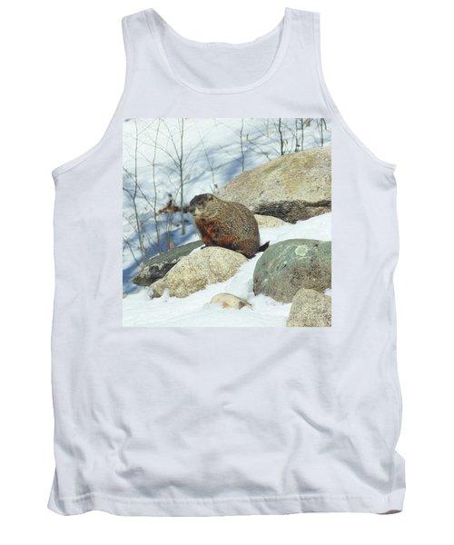 Winter Groundhog Tank Top