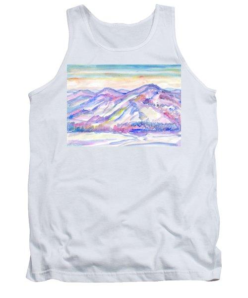 Winter Mountain Landscape Tank Top