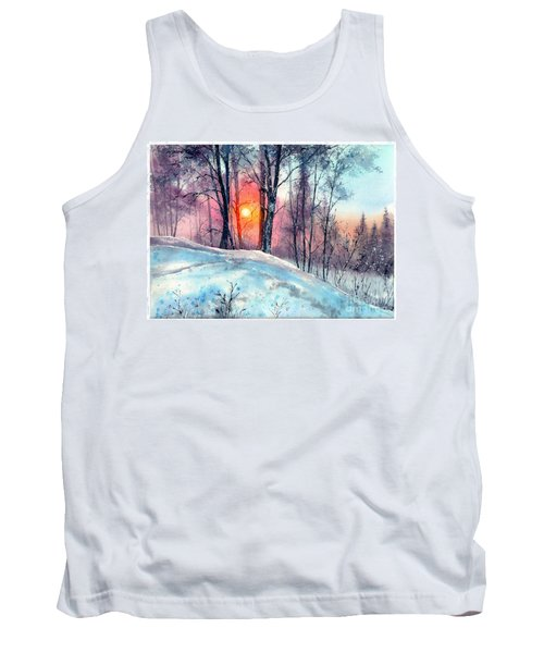 Winter Woodland In The Sun Tank Top