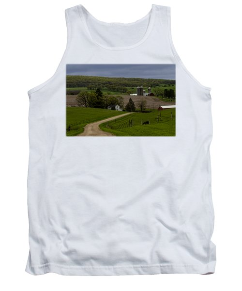 Wisconsin Farm In The Spring Tank Top