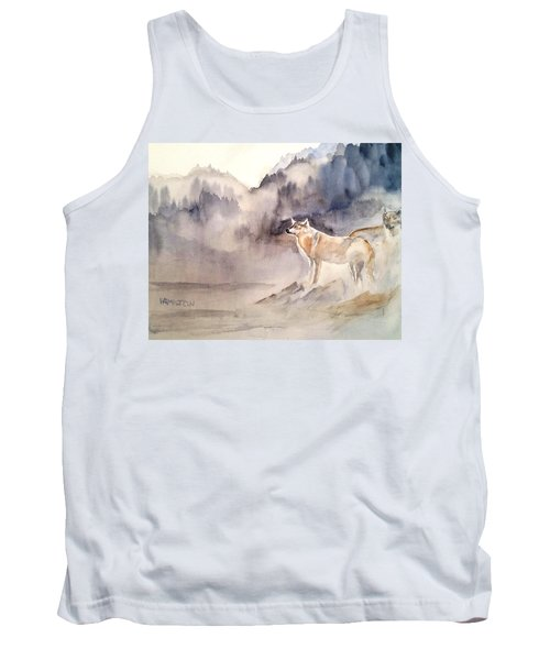 Wolves On Guard Tank Top
