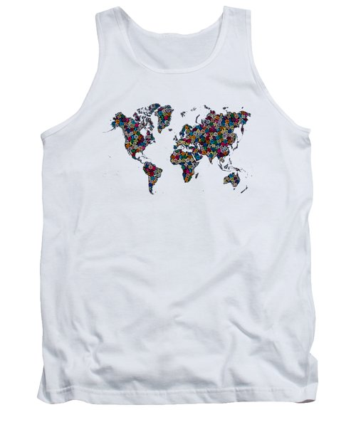 World Map-1 Tank Top