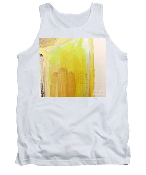 Tank Top featuring the painting Yellow #3 by Maria Langgle