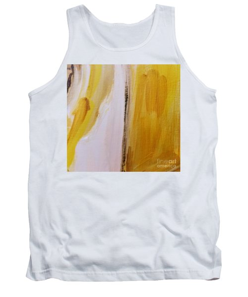 Tank Top featuring the painting Yellow #5 by Maria Langgle