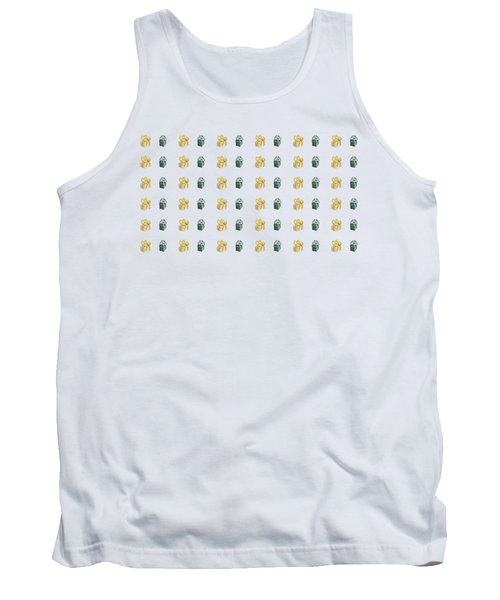 Tank Top featuring the painting Yellow And Green Present Pattern by Maria Langgle
