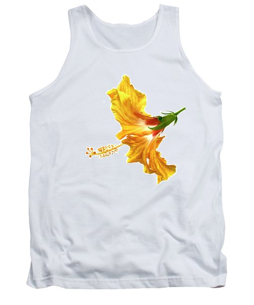 Yellow Hibiscus Tank Top