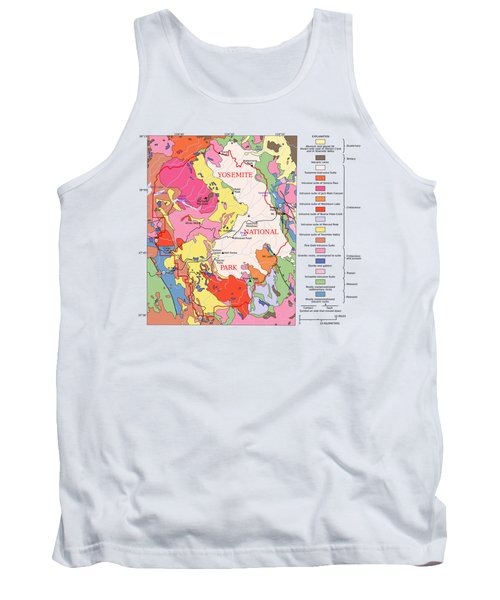 Yosemite National Park Contemporary Geological Map Tank Top
