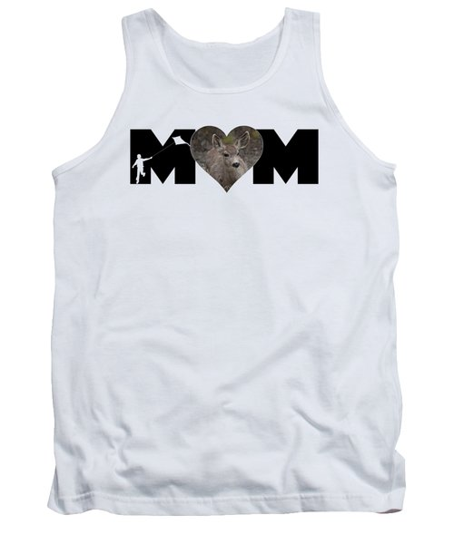 Young Doe In Heart With Little Boy Mom Big Letter Tank Top
