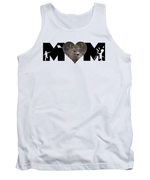 Young Doe In Heart With Little Girl And Boy Mom Big Letter Tank Top