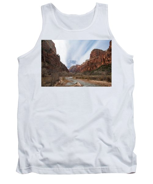 Zion National Park And Virgin River Tank Top