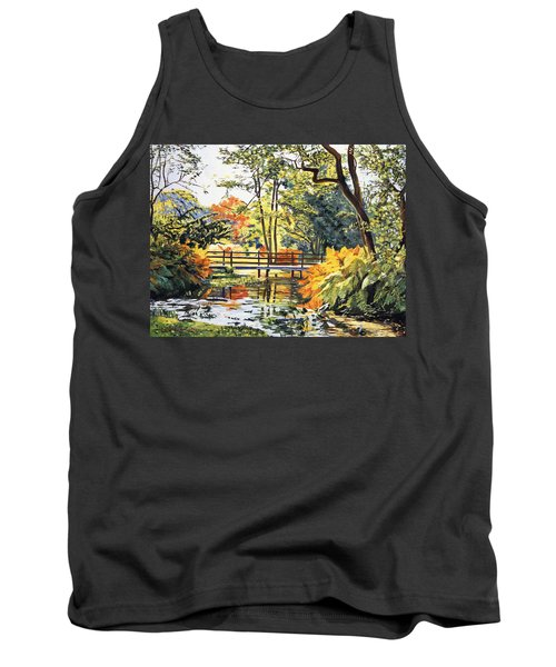 Autumn Water Bridge Tank Top