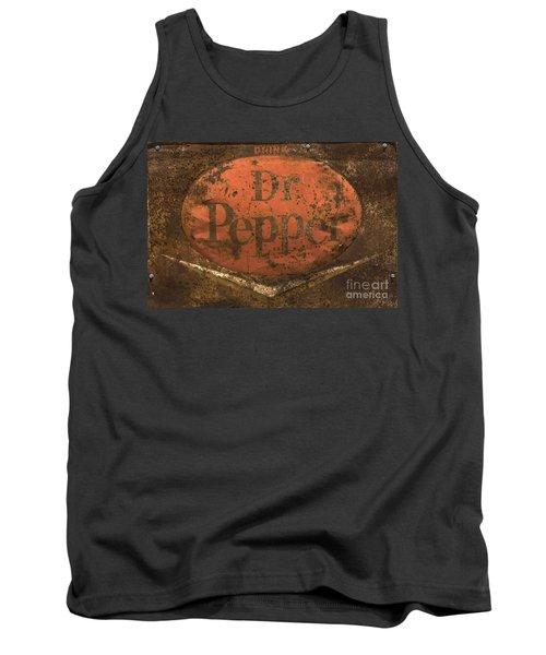 Dr Pepper Vintage Sign Tank Top by Bob Christopher