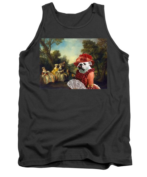 English Bulldog Art Canvas Print - Concert In The Park Tank Top