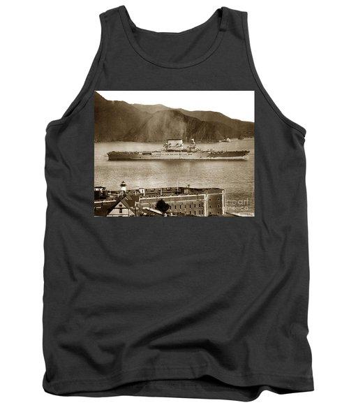 U. S. S. Lexington Cv-2 Fort Point Golden Gate San Francisco Bay California 1928 Tank Top