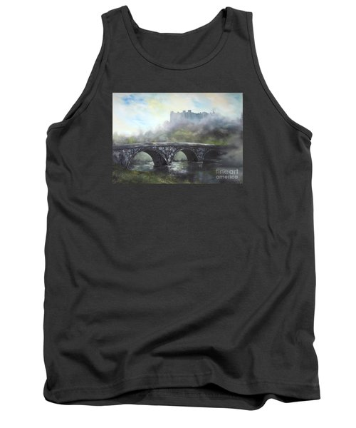 Tank Top featuring the painting  Ludlow Castle In A Mist by Jean Walker