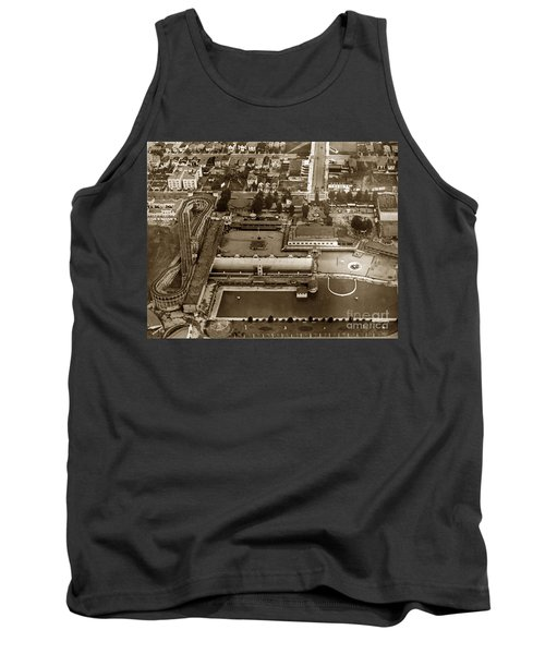 Neptune Beach Olympic Size Swimming Pool And A Roller Coaster Alameda Circa 1920 Tank Top