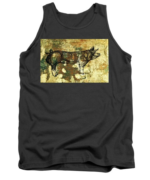 Tank Top featuring the photograph  German Pietrain Boar 27 by Larry Campbell