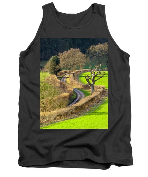 Winding Country Lane Tank Top by Tony Murtagh
