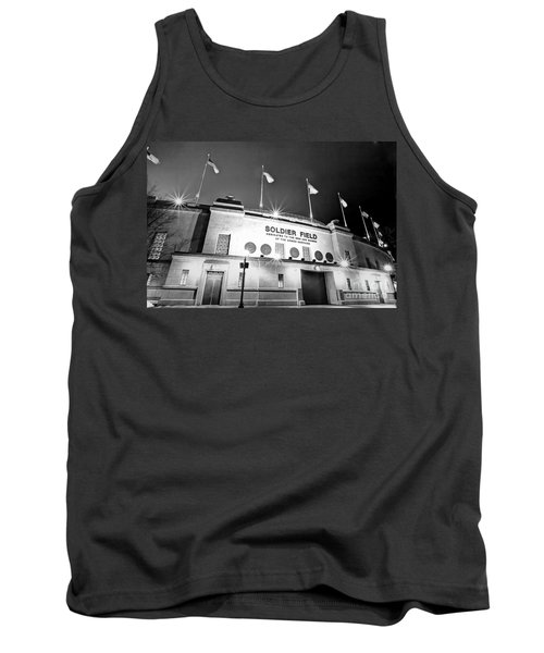 0879 Soldier Field Black And White Tank Top