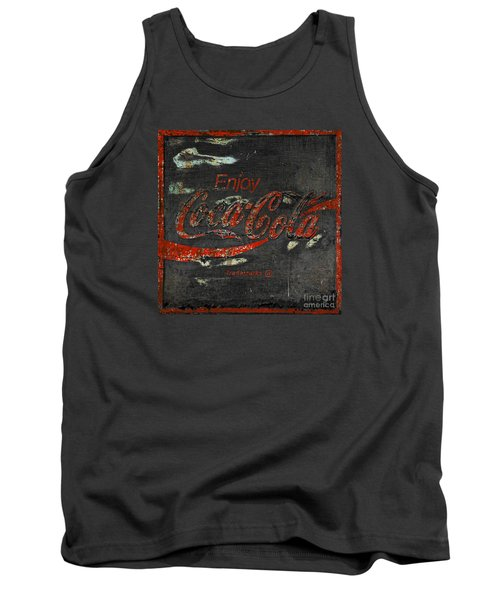Coca Cola Sign Grungy  Tank Top by John Stephens