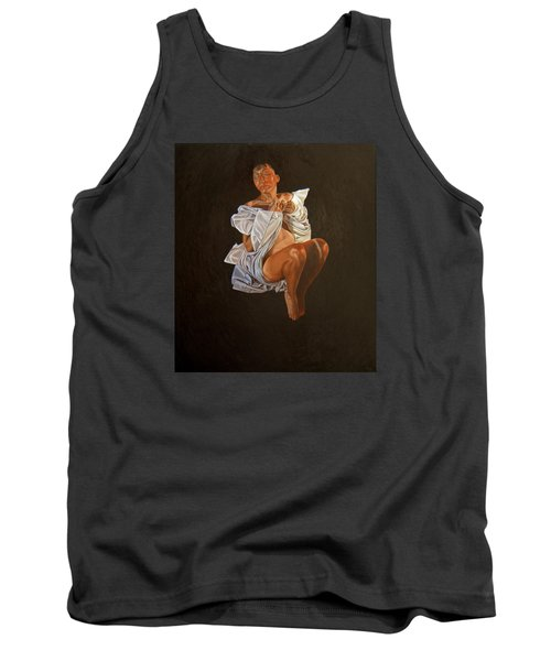 Tank Top featuring the painting 1 30 Am by Thu Nguyen