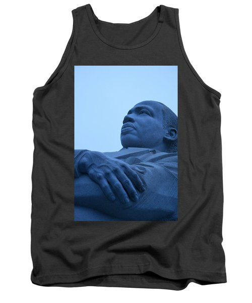 Tank Top featuring the photograph A Blue Martin Luther King - 1 by Cora Wandel