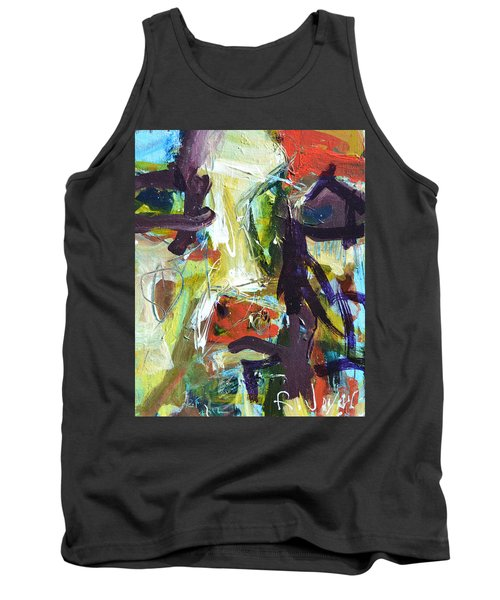 Abstract Cow Tank Top