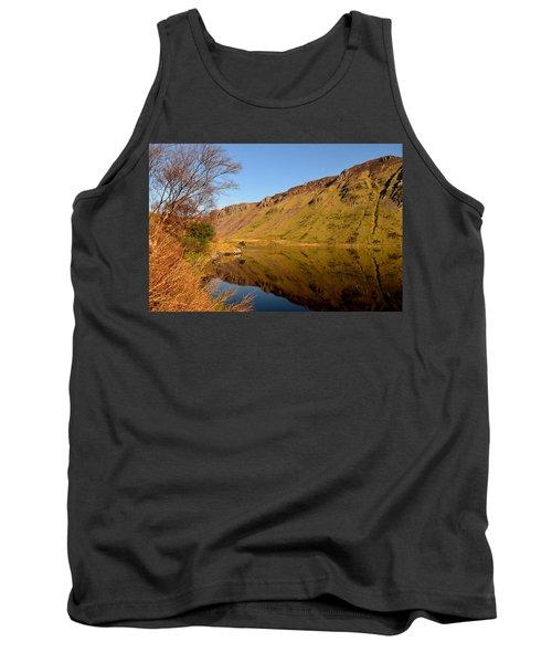 Tank Top featuring the photograph Annascaul Lake by Barbara Walsh