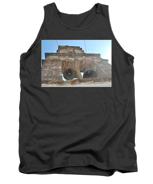 Tank Top featuring the photograph Bell Tower 1584 by George Katechis